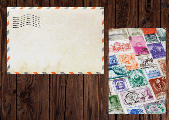 Envelopes-Stamps-Travel Flatlay Ideas-Pune Prop Store
